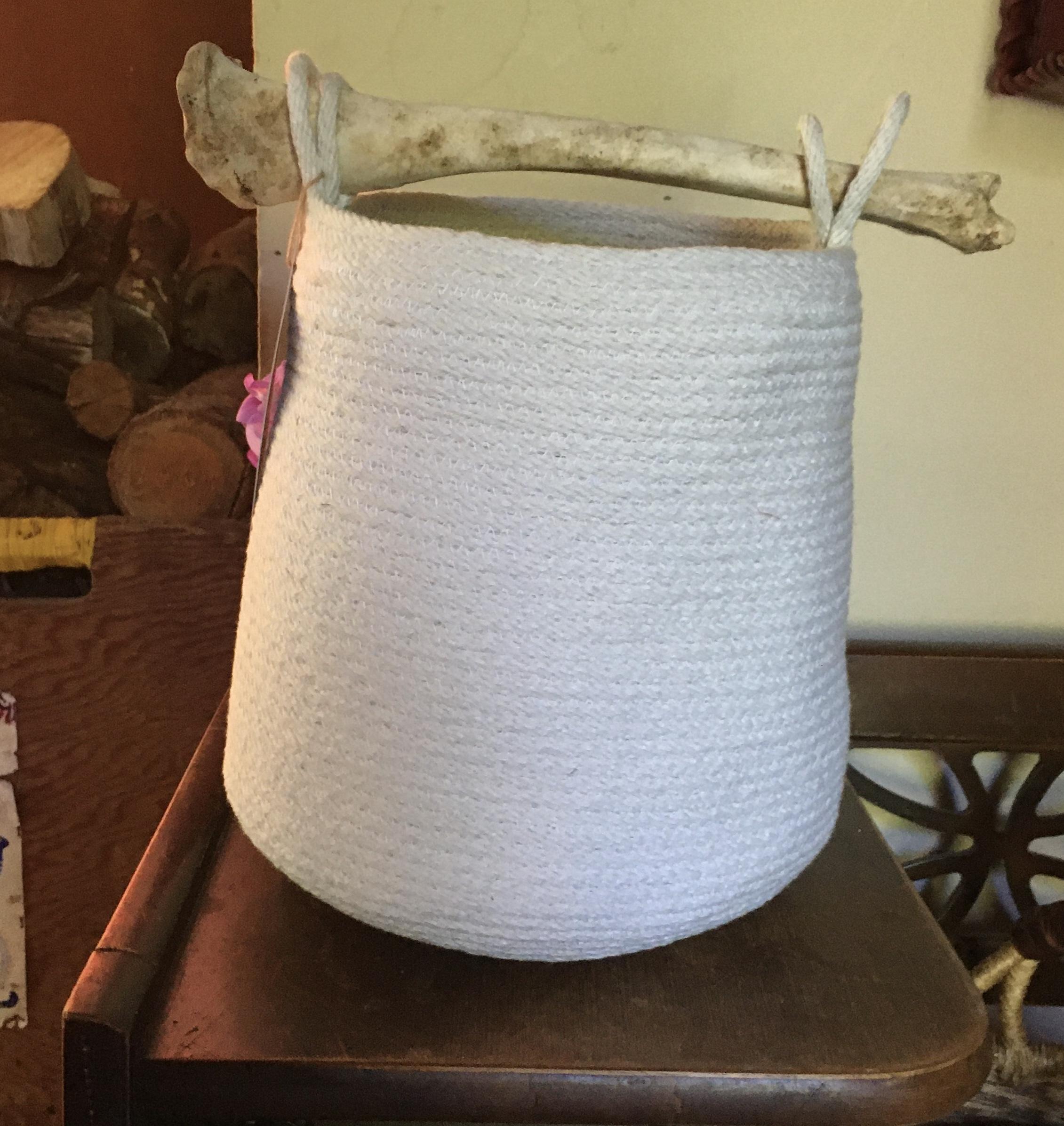 Cotton Basket with bone handle 129$